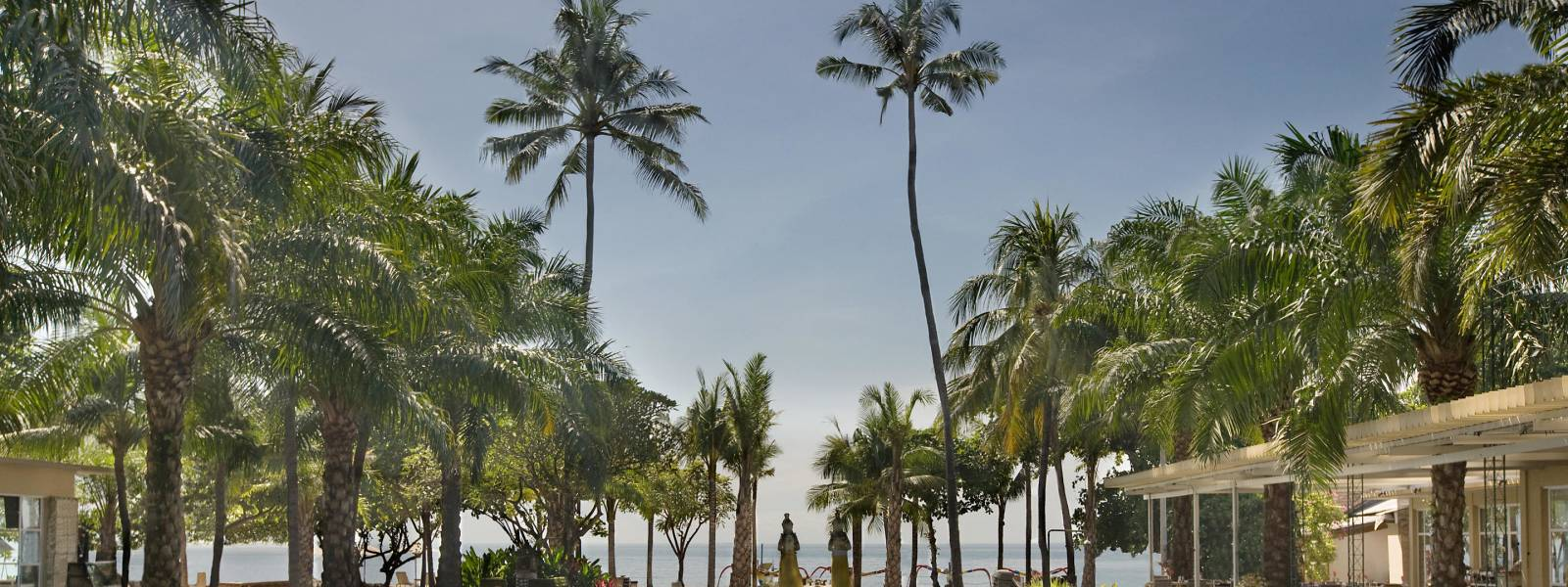 this is a photo of the beachfront pool at Segara Village Hotel, Bali