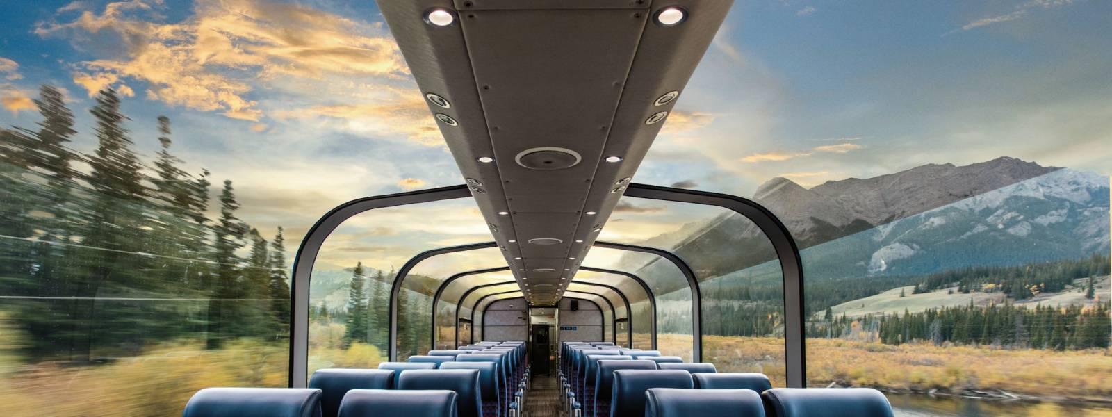 Rail The Canadian Skyline Car Panoramic Rockies Views