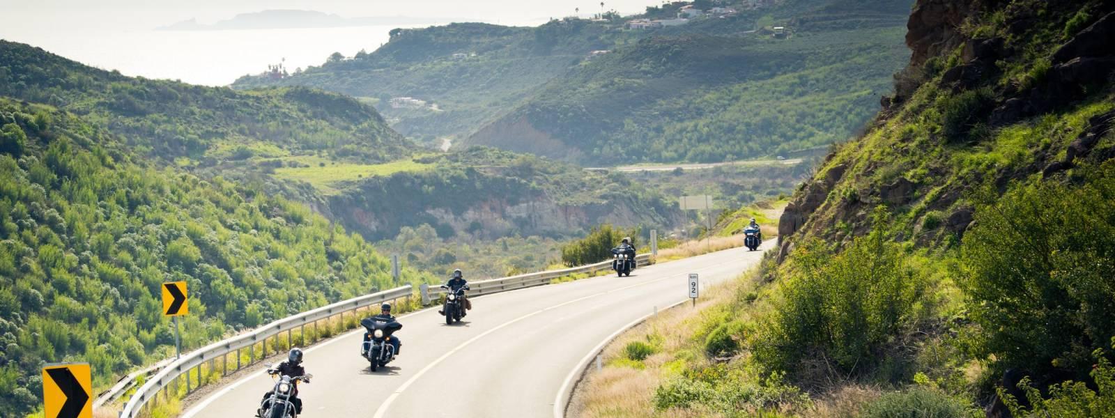 Eaglerider motorcycles in California