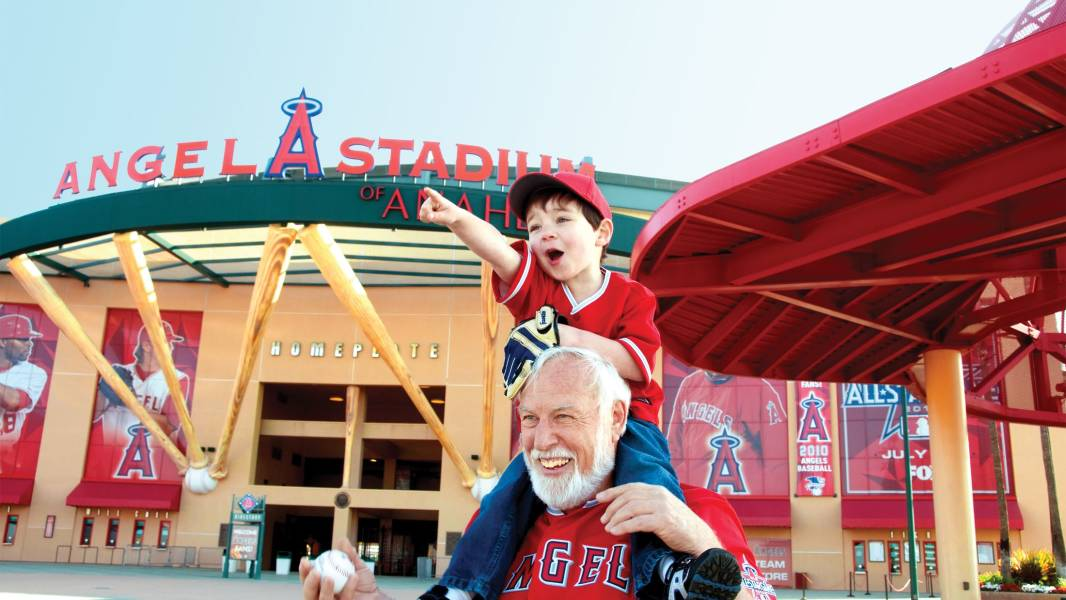 angel stadium family game
