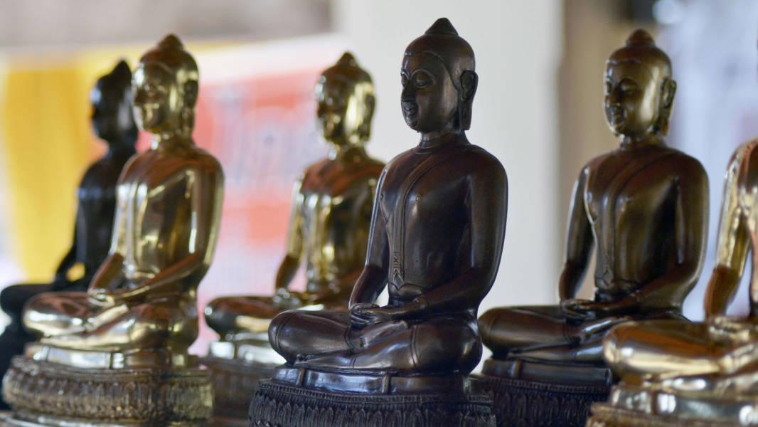Row of Buddhas Wat Phra That Lampang Thailand
