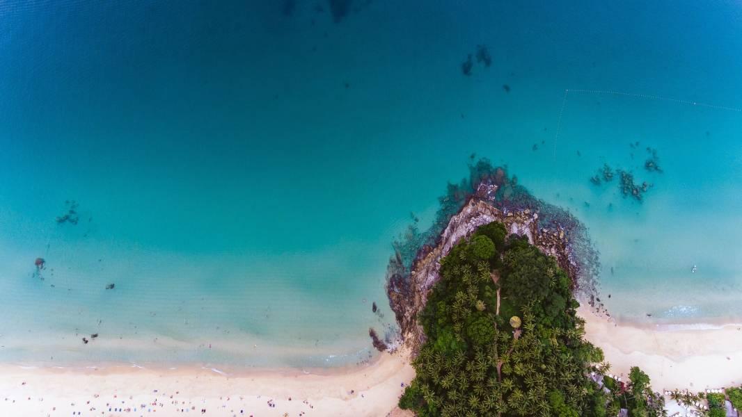 Bali Aerial Beach View