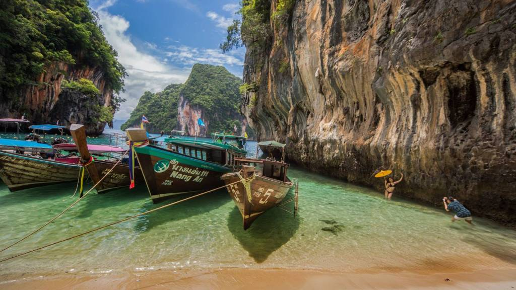 Longtail Boats in Koh Lading