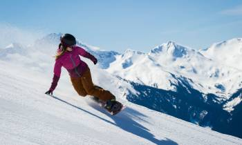 Snowboarding, Blackcomb, Whistler, British Columbia