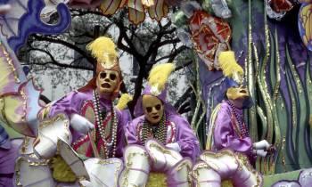 mardi gras float riders new orleans usa
