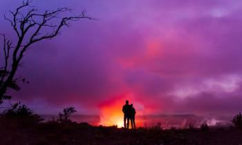 Overlooking the Halemaunau Crater