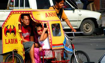 Traditional cyclo in Manila