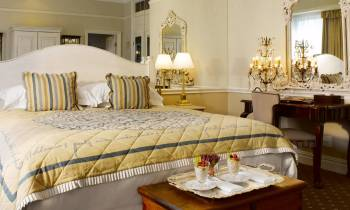 a double bed in a hotel room