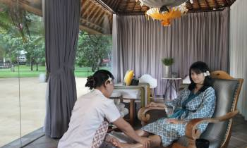 this is a photo of the spa at Segara Village hotel, Bali
