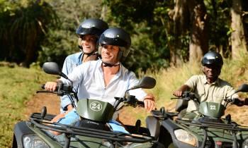 Quad biking around Frederica Nature Reserve