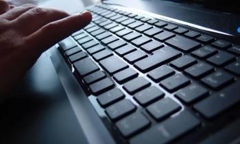 a close up of a computer keyboard