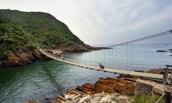 a bridge over a body of water