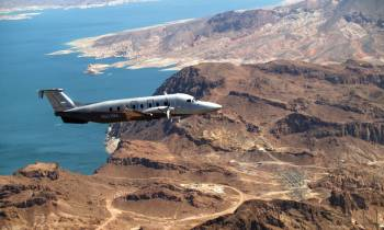 Private aircraft over Lake Mead