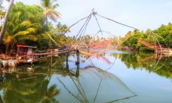 Chinese fishing nets in Cochin India