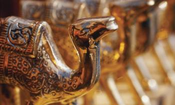 Decorative Brass Camels from Dubai