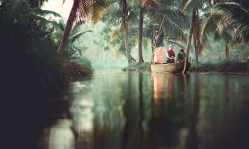 Boat on the back waters of Kerala