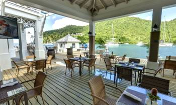 Dining Terrace at the Hurricane Hole Restaurant