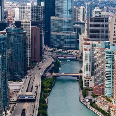 Chicago River, Trump, Skyline, Chicago, Illinois