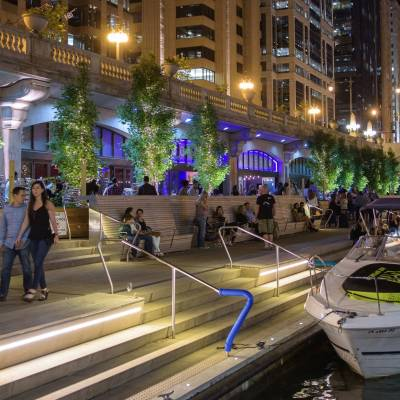 Riverwalk, Downtown, Chicago, Illinois