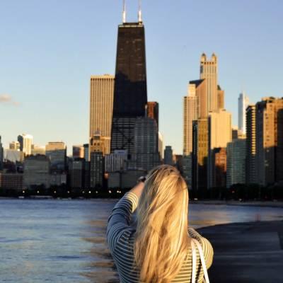 Chicago Skyline, Magnificent Mile, Chicago, Illinois