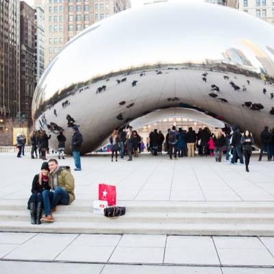 Cloudgate Sculpture, Millennium Park, Chicago, Illinois