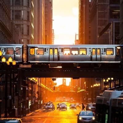 L, Elevated Train, Chicago, Illinois