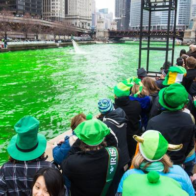 Green River, St. Patrick's Day, Chicago, Illinois