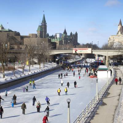 Skating on the Rideau Canal Skateway