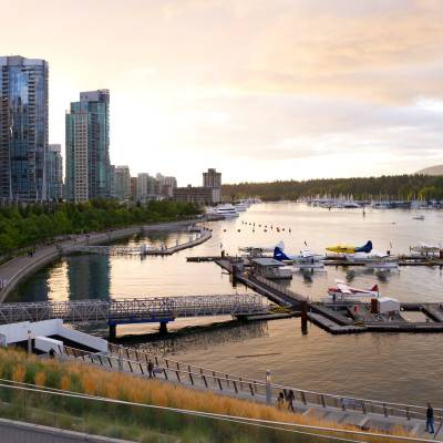 Coal Harbour, Vancouver, Seawall, British Columbia