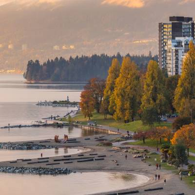 Sunset Beach, English Bay, West End, Vancouver, British Columbia