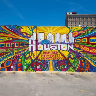Houston Mural near Market Square