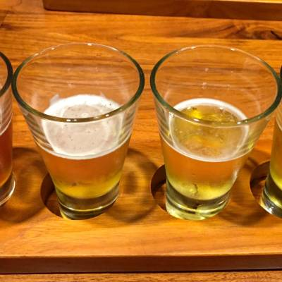 Beer tasting at The Brass Tap