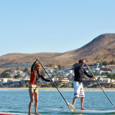 Stand up paddleboarding in Cayucos