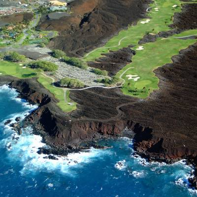 Ancient lava flow and golf course