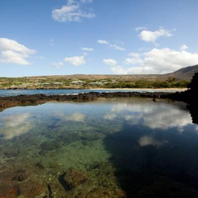 Tide pools, Manele Bay
