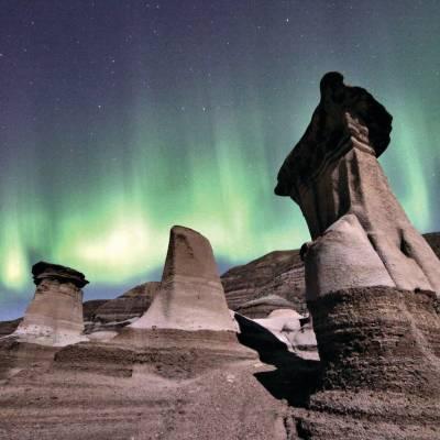 Hoodoos and Northern Lights
