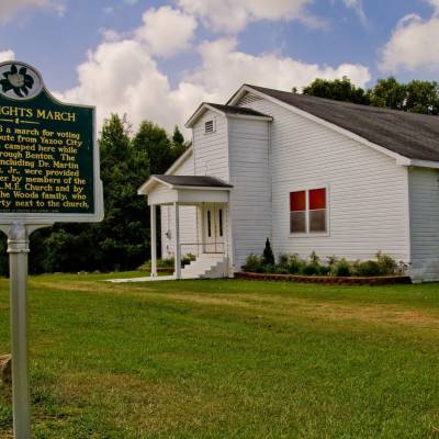 Oak Grove AME Church and Civil Rights March marker