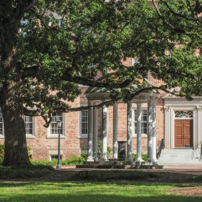 The Old Well and South Building at the University of North Carolina at Chapel Hill