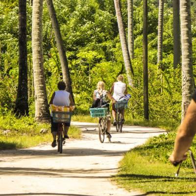 Bike Ride, La Digue, Seychelles