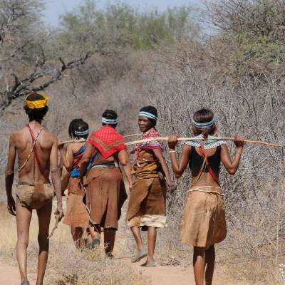 Local tribes people in Botswana