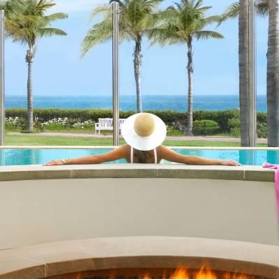 Spa pool terrace