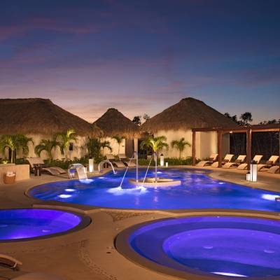 a round blue pool