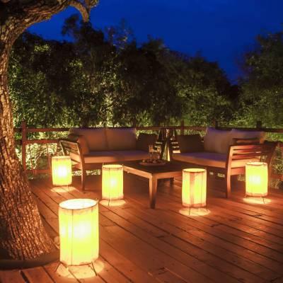 Tree deck dining