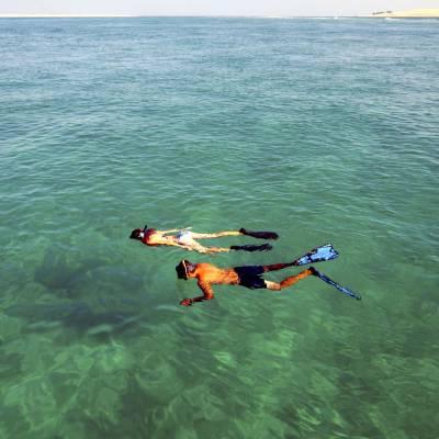 Snorkelling in the Indian Ocean