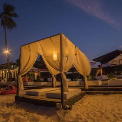 a tent on a beach