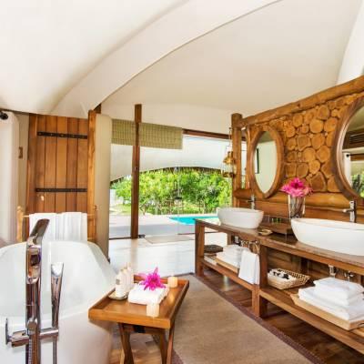 Bathroom, Chena Huts