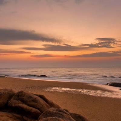 Beach sunset in Yala National Park, Sri Lanka