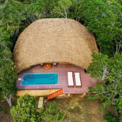 Cabin exterior, Chena Huts