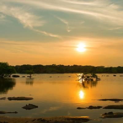 Lake, Chena Huts