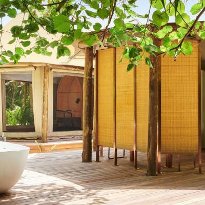 Glamping, Luxury Tented Jungle Villa, Fairmont Maldives